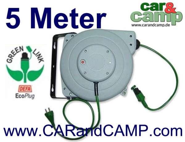 DEFA Kabeltrommel grün 5,0 Meter für ECO Plug Stecker