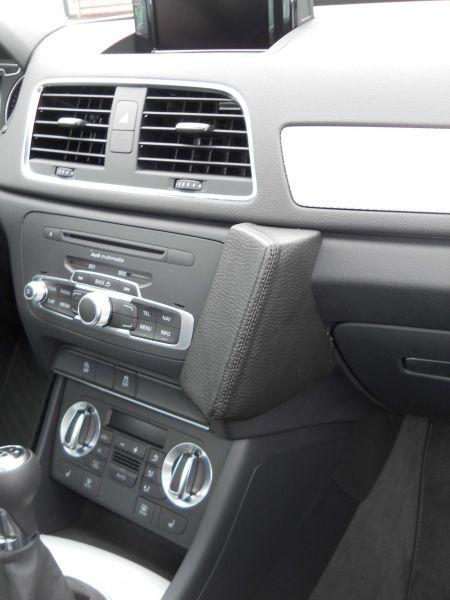 Perfect Fit Telefonkonsole Audi Q3 (8U), Bj. 10/11 - Premium Echtleder
