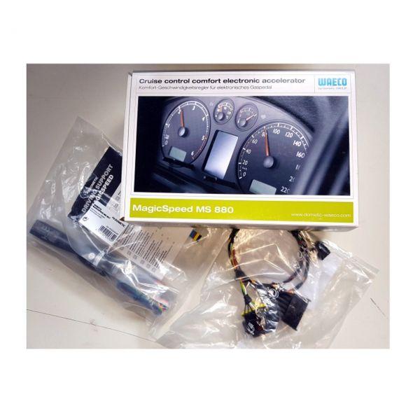 Tempomat Volkswagen VW Fox Benziner 1.2 + 1.4 ab Bj. 2005 DOMETIC WAECO MS-880 Komplettset Geschwind